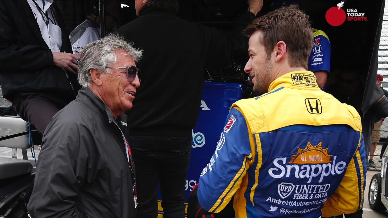 Legendary driver Mario Andretti spoke with USA TODAY Sports about the Indianapolis 500, his advice for Formula 1 champion Fernando Alonso, who is set to make his Indy 500 debut,  and his excitement for his grandson Marco's wedding.