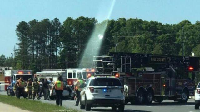 Light Beam Over Georgia Car Crash