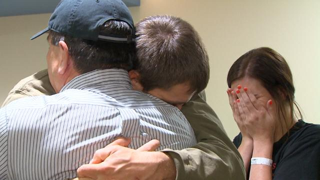 Parents meet stranger who saved their children