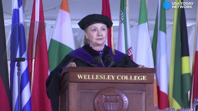 """Hillary Clinton gave the commencement address at her alma mater: Wellesley College. She warned of an """"all-out assault on truth."""""""