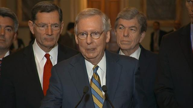 "Senate Majority Leader Mitch McConnell is giving lukewarm support to President Donald Trump's FY2018 budget proposal, telling reporters that lawmakers will ""decide what to do with those recommendations."" (May 23)"