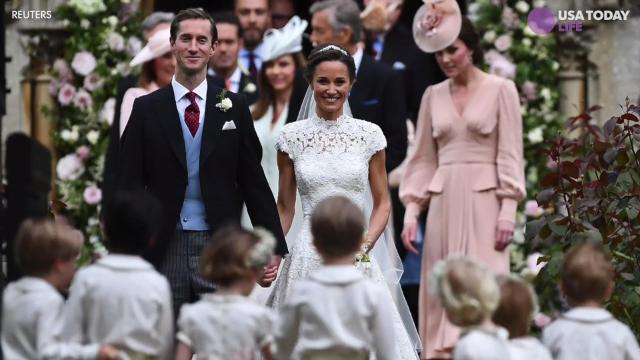 Kate Middleton's sister Pippa ties the knot.