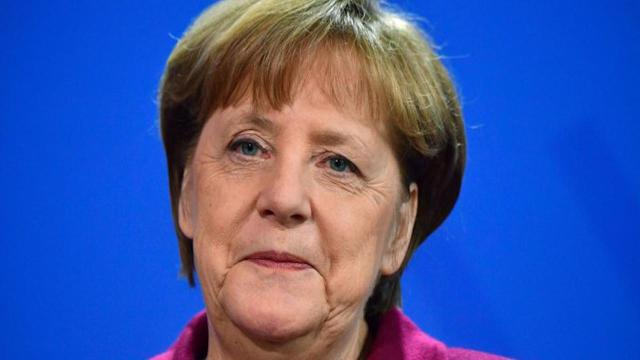 German Chancellor Angela Merkel on Sunday urged European Union nations to stick together in the face of emerging policy divisions with the U.S., Britain's decision to leave the bloc and other challenges.