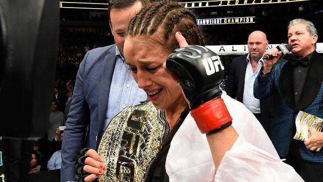 UFC Women's Strawweight Champion Joanna Jedrzejczyk says she only does media to promote fights.