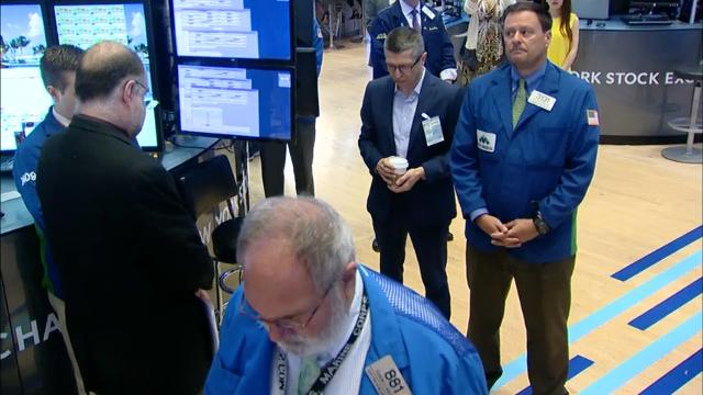 Traders at the New York Stock Exchange observed a moment of silence before the market open in honor of the victims of the Manchester, England  bombing. (May 23)