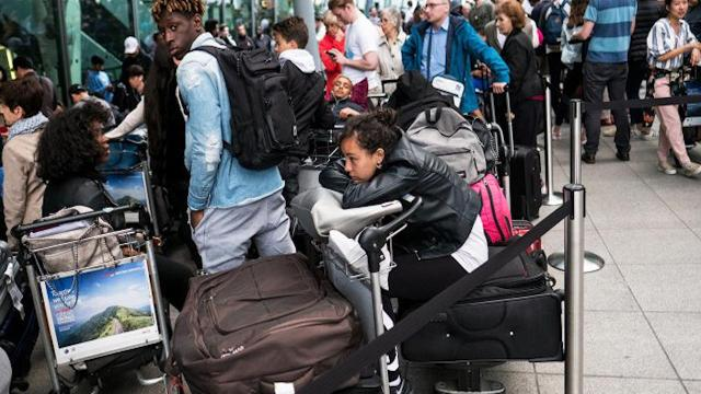 "The airline said that it hoped to operate a ""near normal schedule"" at Gatwick and the ""majority of services"" from Heathrow on Sunday, a day after canceling all flights from both London airports."