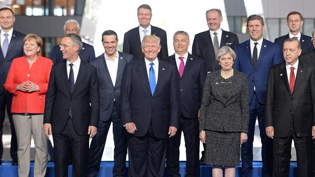 President Trump used a NATO meeting to criticize its members for not spending enough and to complain about trade deficits. Video provided by Newsy