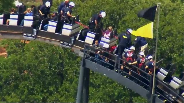 Riders stuck on roller coaster In Okla. City