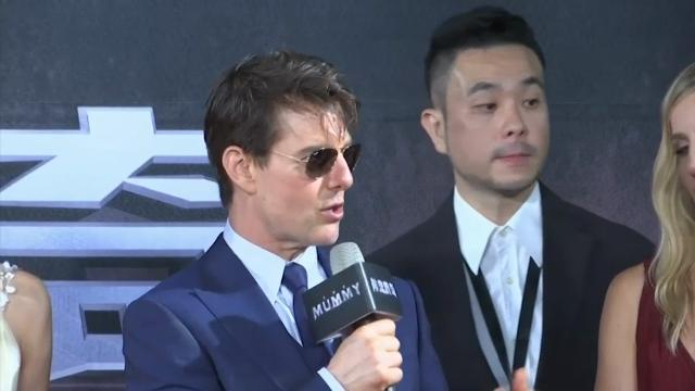 Tom Cruise premieres 'The Mummy' in Taiwan, vows to return. (May 25)