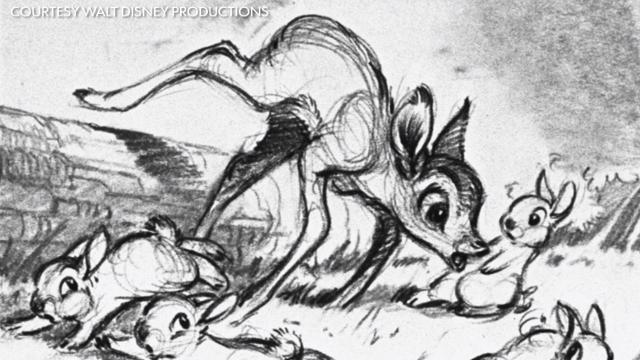 We know Bambi, Thumper and Flower, but this little character with a big personality was left on the film's cutting room floor.