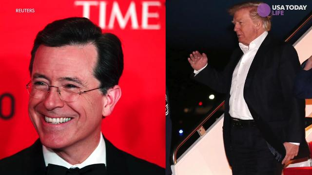 In a recent interview with Time Magazine Trump called Colbert a no talent guy.