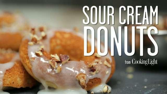 How to make low-calorie sour cream donuts