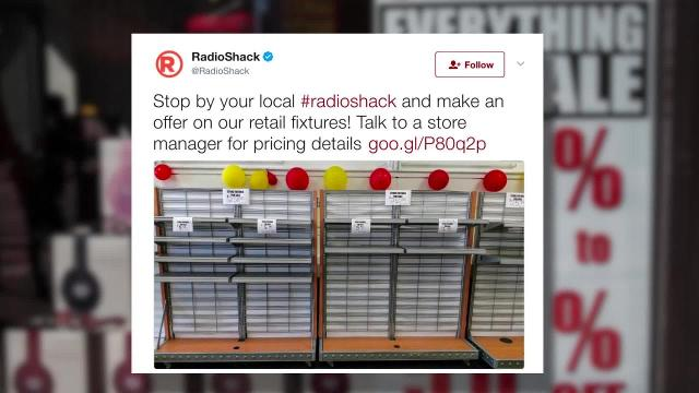Radio Shack using Twitter to highlight its final days as a brand