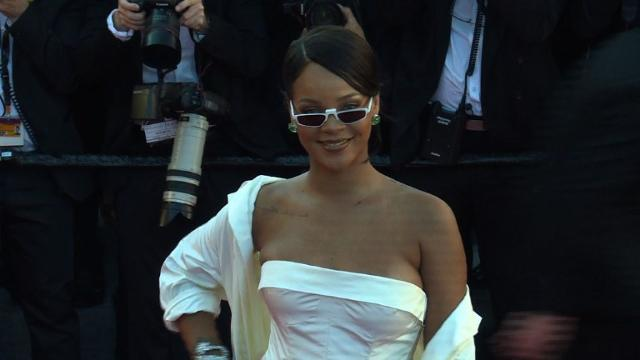International superstar Rihanna walks the red carpet wearing a stunning white creation, as she arrives for the screening of the film 'Okja' at the 70th edition of the Cannes Film Festival. She is joined by international movie stars and fashion models.