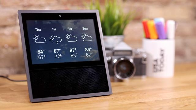Amazon's new Echo Show has all the features of the original Echo, but also includes a screen.