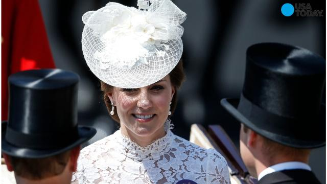 9b11869f0a9 Duchess Kate wows in white lace — and a name tag — at Royal Ascot