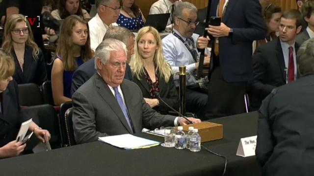 U.S. Secretary of State Rex Tillerson released a statement encouraging conversation between Qatar and the Arab countries boycotting it.  Lindsey Granger has details.