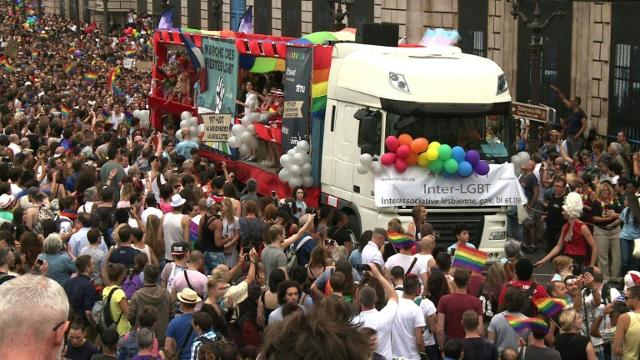 Paris gay pride calls for universal reproductive rights Video provided by AFP