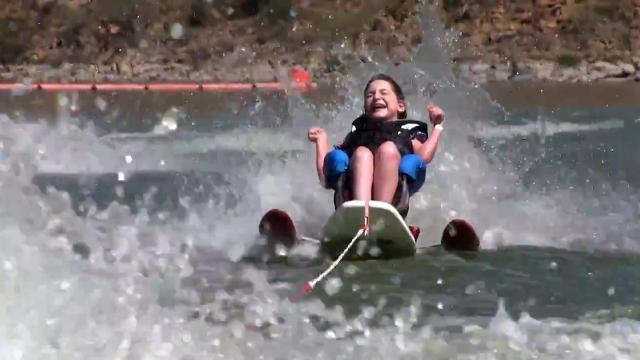Teen who spends each day in wheelchair flies on the water