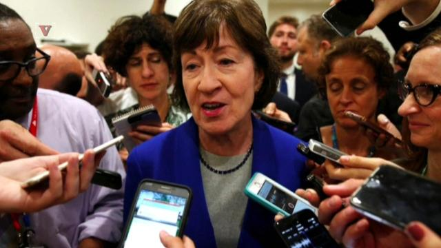 Republican Senator Susan Collins expressed concerns about the healthcare bill and defended the funding of Planned Parenthood.  Lindsey Granger has details.
