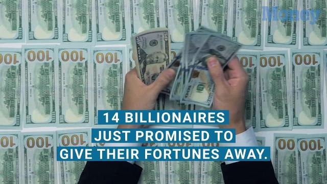14 billionaires pledge to give their fortunes away