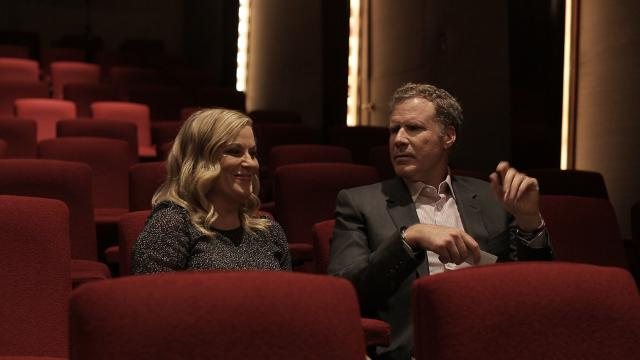Who's the bigger movie buff? 'The House' stars Amy Poehler and Will Ferrell test their movie trivia in a round of 'Guess That Movie.'
