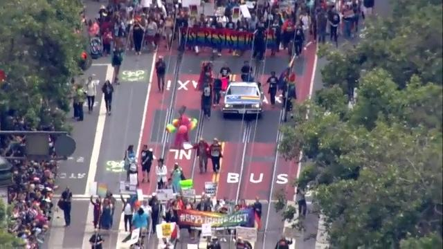 Raw: San Francisco's Pride Parade gets political