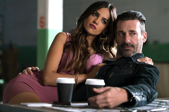 Jon Hamm and Eiza González compare their 'Baby Driver' characters to Bonnie and Clyde, and wonder what would happen if ad man Don Draper met up with vampire Santanico Pandemonium?