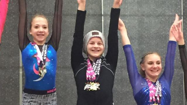 14-year-old athlete keeps performing despite ovarian cancer diagnosis