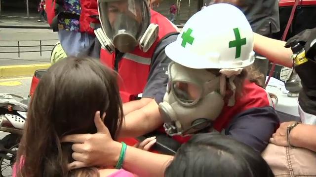 Anti-government protests in Venezuela have been growing more violent, making the work of medical students, the so-called 'Green Helments' and their movement of volunteer paramedics more dangerous, with one member recently killed. (June 2)