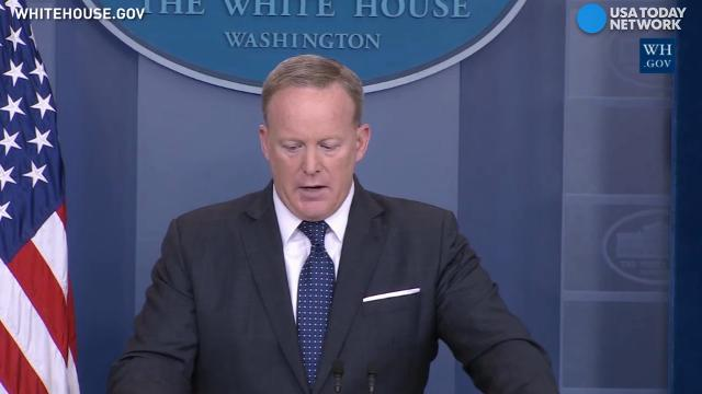 June 12, 2017 - Press Secretary Sean Spicer said the White House is 'confident' that President Trump's proposed travel ban is 'fully lawful.'