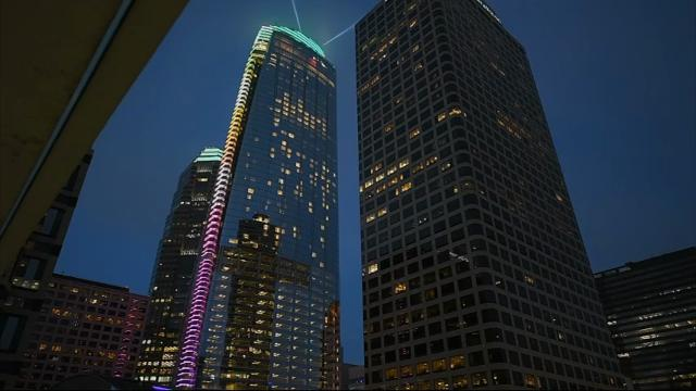 The tallest building west of the Mississippi River opened its doors on Friday in once-stodgy downtown Los Angeles, which is sprouting a crop of new skyscrapers. (June 24)