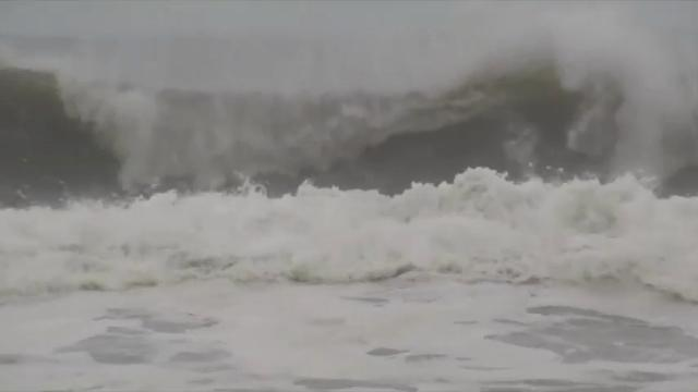 Dangerous surf in gulf from Tropical Storm Cindy