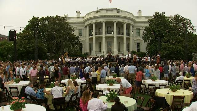 "President Donald Trump and First Lady Melania Trump are hosting their first Congressional picnic. The president said he hoped that a spirit of ""unity"" would soon develop in the nation's capital. (June 22)"