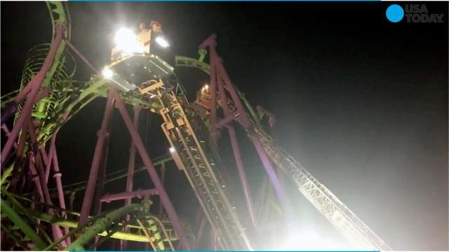 A 14-year-old girl was caught by strangers after falling from a gondola ride at a Six Flags park in New York. It's far from the first accident at America's amusement parks this past year.