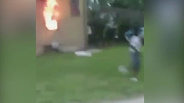 Woman Caught on Video Setting Wisc. Home on Fire