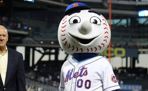 The New York Mets mascot got some unwanted attention after a video captured him gesturing at a fan.