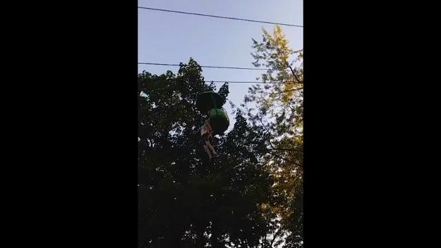 A teenager fell about 25 feet from a stopped gondola ride at an upstate New York amusement park Saturday night, tumbling into a crowd of park guests and employees gathered below to catch her before she hit the ground. (June 25)