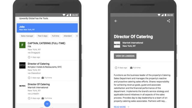 The company is launching a new job search tool.
