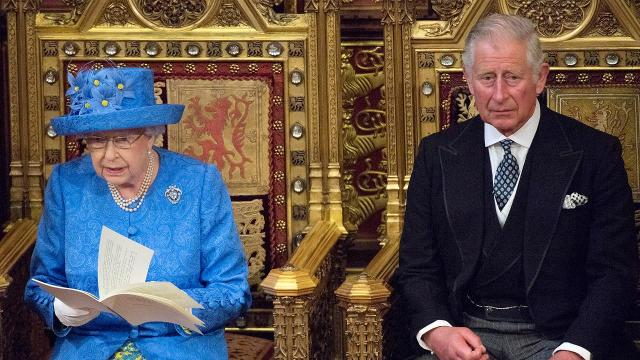 "Queen Elizabeth II outlined the government's legislative program in a speech to Parliament on Wednesday after the prime minister slimmed down her plans and promised ""humility"" in negotiating Britain's exit from the European Union."