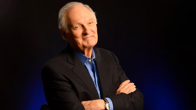 The actor, whose new book is called 'If I Understood You, Would I Have This Look on My Face?,' grew up with a dad in vaudeville. As a promotion, his father, Robert Alda, had his 2-year-old son smoke a pipe. The newspapers covered it.