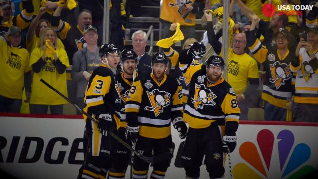 In a game that got out hand early and testy late, the Penguins dismantled the Predators 6-0 at home. Pittsburgh is now one victory away from repeating as Stanley Cup champions.