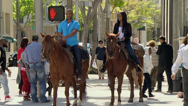 Here's an exclusive preview of 'Bachelorette' star Rachel riding horses on a one-on-one date in Beverly Hills with Anthony. That's not something you often see on Rodeo Drive! The episode airs June 5 on ABC.