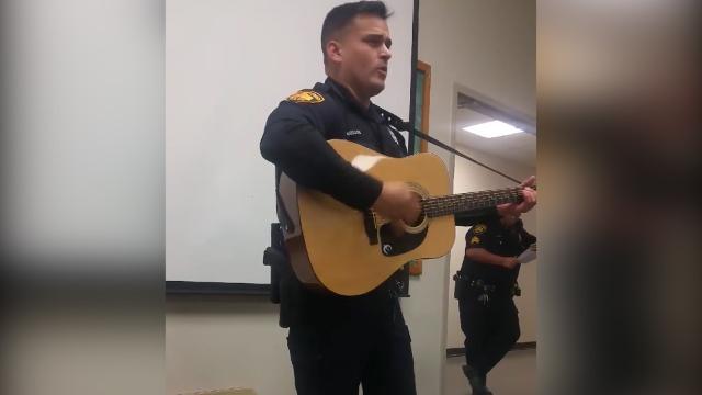 Police officer sounds just like Johnny Cash