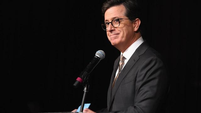While in Russia, Stephen Colbert sent a tweet to President Donald Trump and announced he was considering a White House run