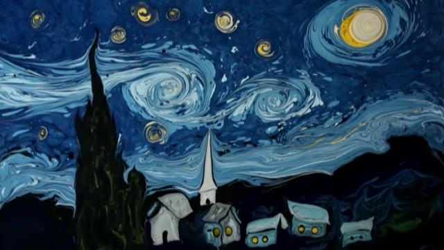 Garip Ay's takes on Vincent Van Gogh's masterpieces are stunning, but the way they're made is even more impressive.