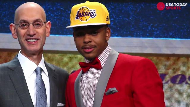 While the NBA draft is important in determining the future of the league, it's also a great place to see some flashy suits.