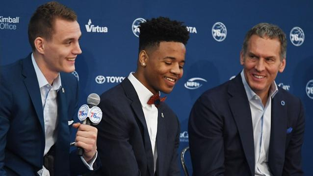 76ers president and general manager Bryan Colangelo could not be happier with adding Markelle Fultz to the roster.