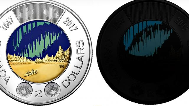 Canada has introduced a $2 coin  that glows in the dark. Video provided by Newsy