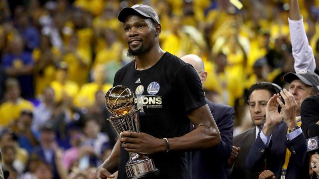 41fd2ce01a81 Kevin Durant named Finals MVP after winning first championship